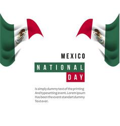Mexico national day template design vector