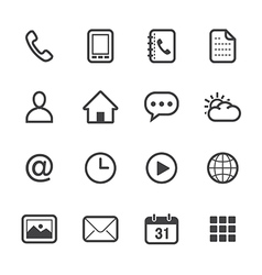 Mobile Phone Icons vector image