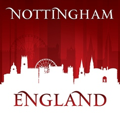 Nottingham england city skyline silhouette vector