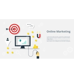 Online marketing concept internet bisiness and vector image