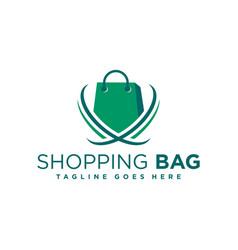 online shop modern logo vector image