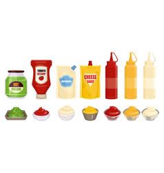 Packaging of sauce set vector