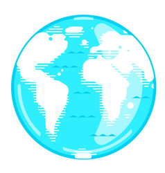 Planet earth in flat style vector