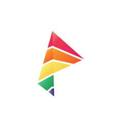 Prism logo template vector