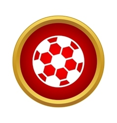 Professional soccer ball icon simple style vector