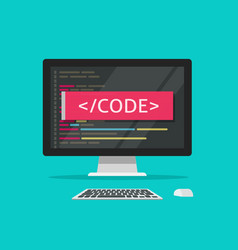 programming code on computer vector image