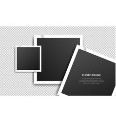 Realistic old photo frame collection vector