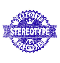 scratched textured stereotype stamp seal with vector image