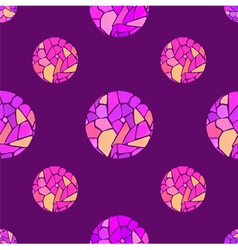 Seamless pattern with watercolor mosaic balls vector