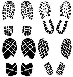 Set black footprints vector