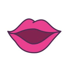 Sexy female lips icon vector