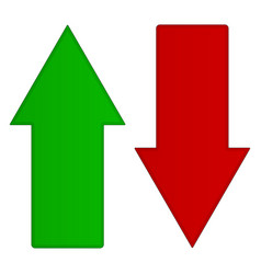 simple up and down arrows upward downward arrows vector image
