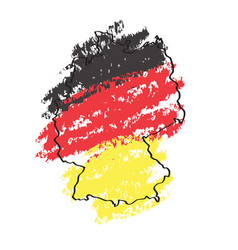 Sketch of a map of germany vector