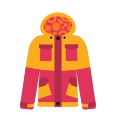 Snowboard sport clothes jacket design element vector