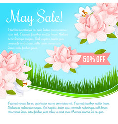 Spring holiday flowers discount sale poster vector