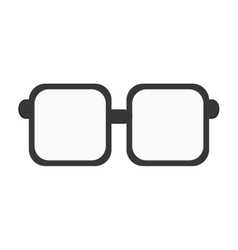 squared frame glasses icon vector image