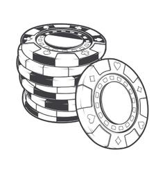 Stacks gambling chips casino tokens vector