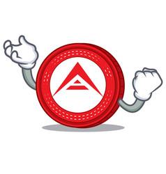 Successful ark coin character cartoon vector