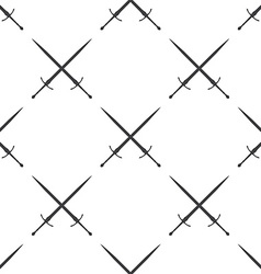sword seamless pattern vector image