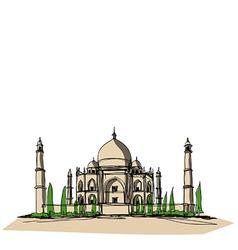 Taj Mahal vector image