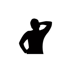 Thinking silhouette vector