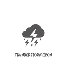 thunderstorm icon simple flat style vector image