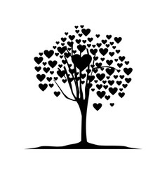 tree love logo creative concept vector image