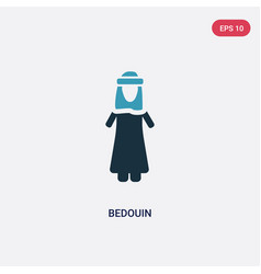 Two color bedouin icon from people concept vector