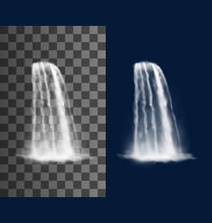 waterfall cascade realistic water jet vector image