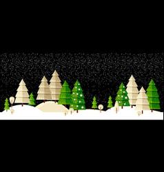 Winter wonderland night background vector