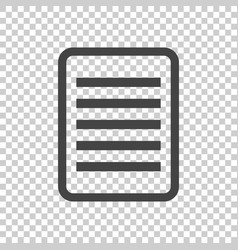 document pictogram icon simple flat for business vector image vector image