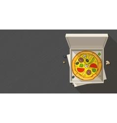 Italian pizza in open box vector image vector image