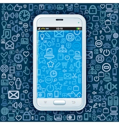 Smartphone on Web Pattern vector image vector image
