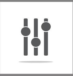 Adjustment music icon vector