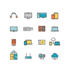 Home and office appliances Personal electronics vector image