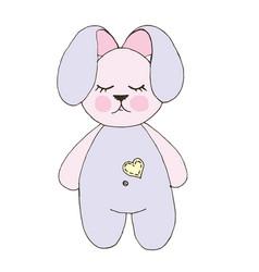 Print with cute bunny vector