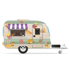 trailer food 02 vector image vector image