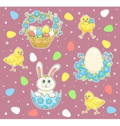 Easter cartoon set vector image vector image