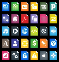 File types icons vector