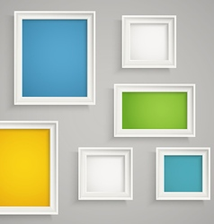 Abstract background of color boxes vector image