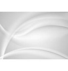 Abstract smooth grey pearl waves background vector image vector image