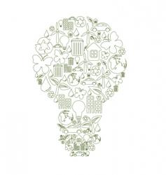 bulb shape vector image
