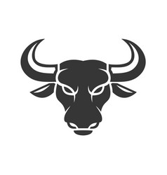 bull face logo business icon on a white vector image vector image