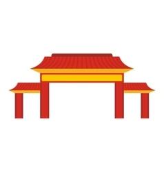 Pagoda icon flat style vector image vector image