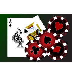 playing cards vector image