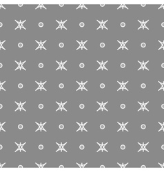 Star and polka dot geometric seamless pattern 30 vector image vector image