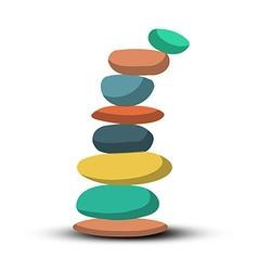 Stones - Pebbles Heap Retro vector image