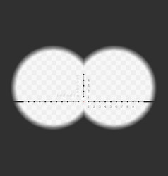 view from the binoculars vector image