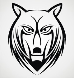 Wolf Face Tattoo Design vector image vector image