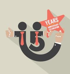 15 Years Anniversary Typography Design vector image